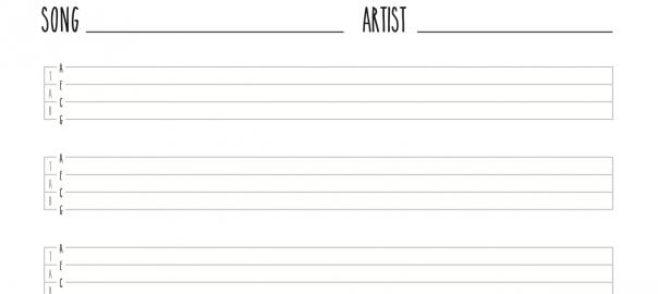 Ukulele Blank Tab Sheet