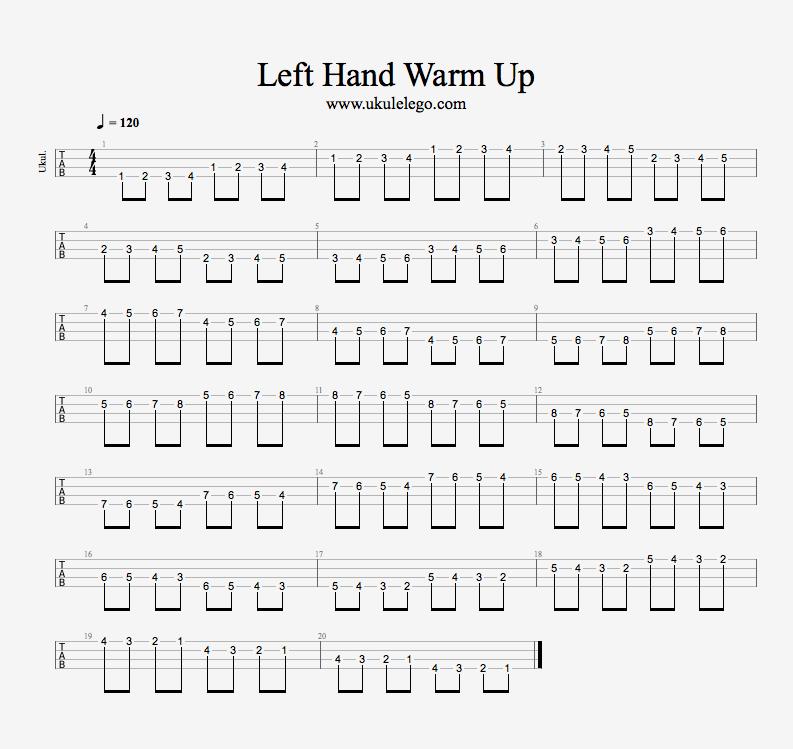 ukulele warm up
