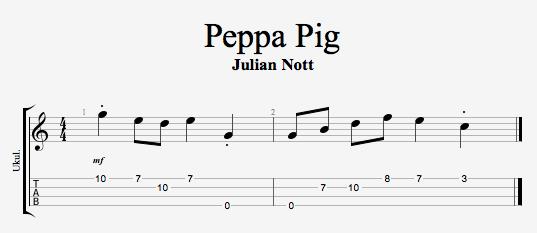 peppa pig ukulele