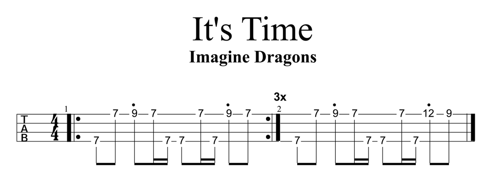 Its Time By Imagine Dragons Riff Ukulele Go