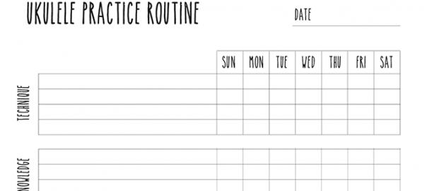 ukulele practice routine