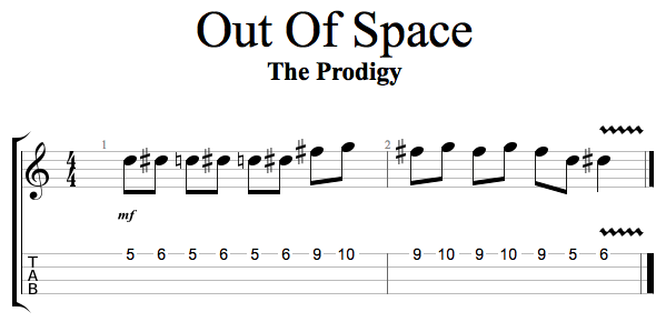 Out Of Space The Prodigy Ukulele
