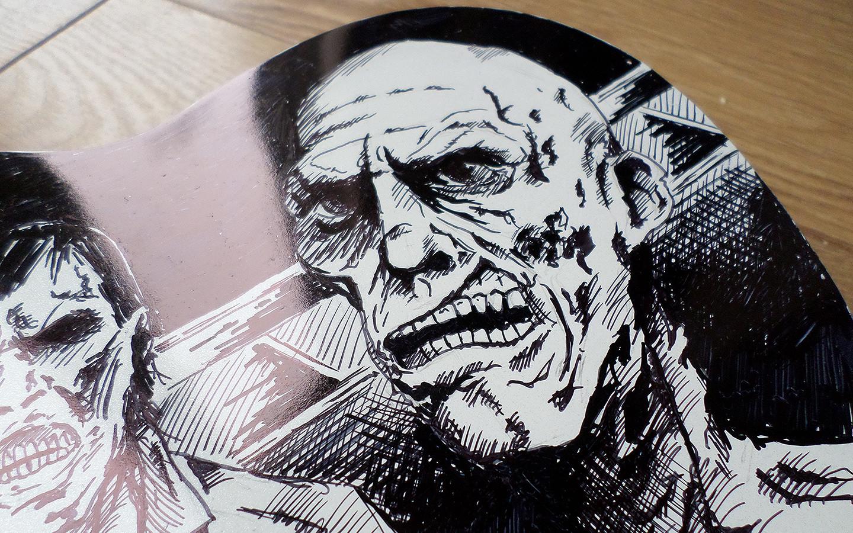 zombie ukulele closeup sharpie