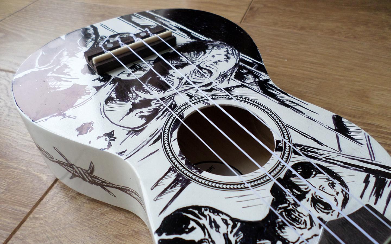 custom ukulele illustration zombie