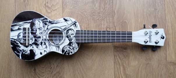 Ukulele ukulele chords zombie : Zombie/Walking Dead Ukulele Custom Illustration