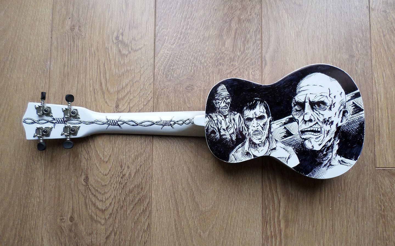 zombie ukulele art