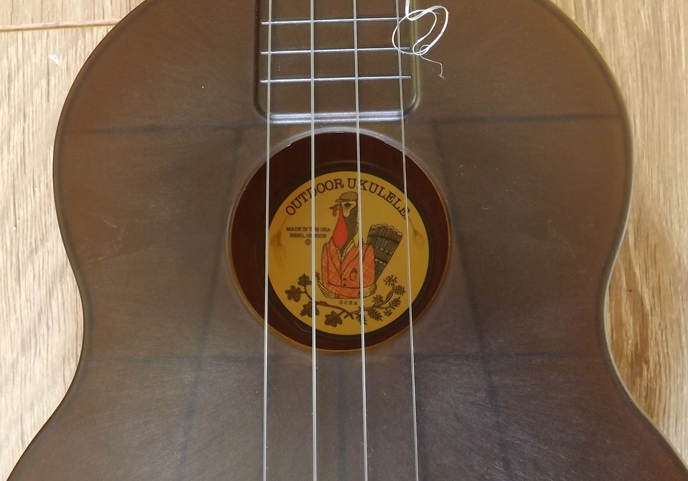 outdoor ukulele tenor soundhole