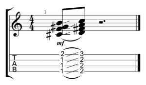 d7 slide rhythm
