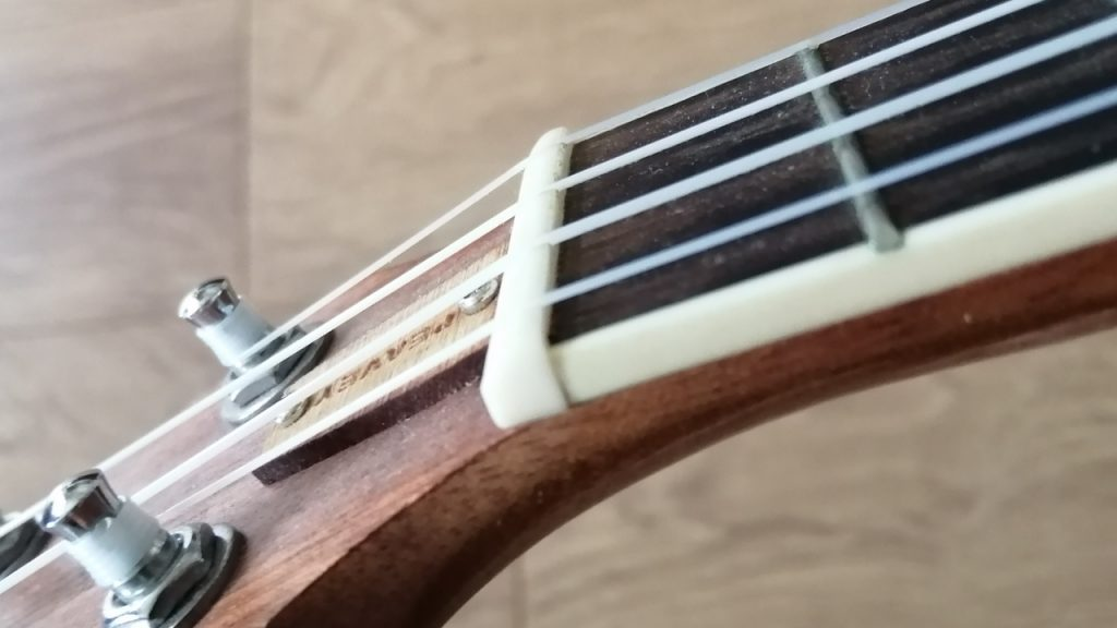 Ukulele Nut Closeup
