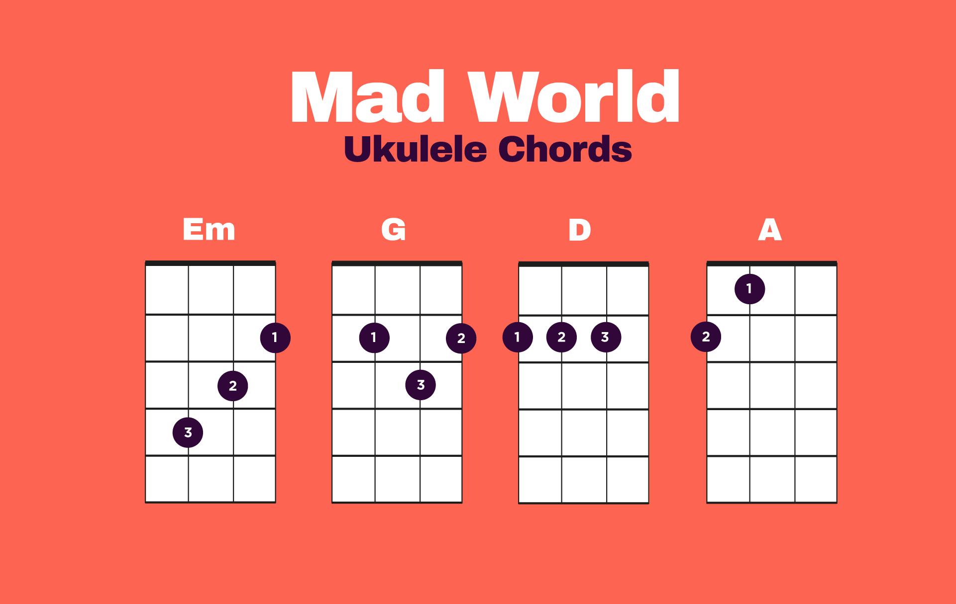 Mad World Ukulele Chords