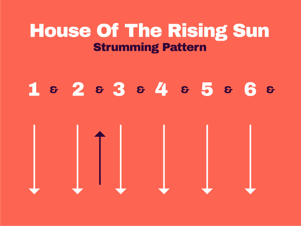 House Of The Rising Sun Strumming Pattern